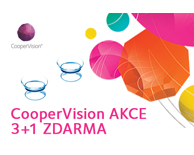 CooperVision akce 3 + 1 zdarma